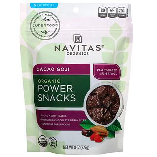 Navitas Organics, Organic Power Snacks, Cacao Goji, 8 oz (227 g)