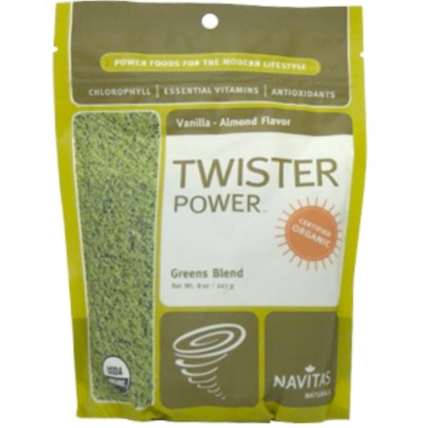 Navitas Organics, Twister Power, Greens Blend, Vanilla-Almond Flavor, 8 oz (227 g) (Discontinued Item)