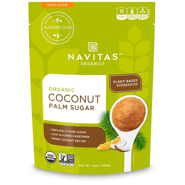 Organic Coconut Palm Sugar, 16 oz (454 g)