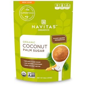 Навитас Органикс, Organic Coconut Palm Sugar, 16 oz (454 g) отзывы