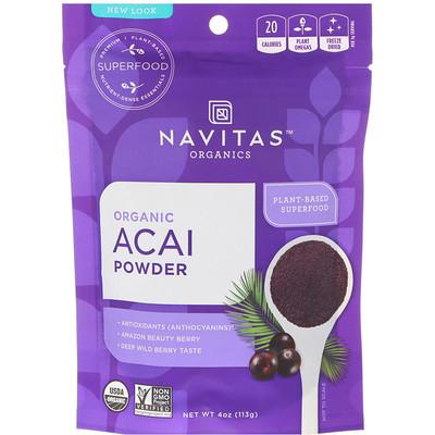 Купить Navitas Organics Органический порошок асаи, 113г (4унции)