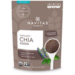 Навитас Органикс, Organic Chia Seeds, 16 oz (454 g) отзывы покупателей