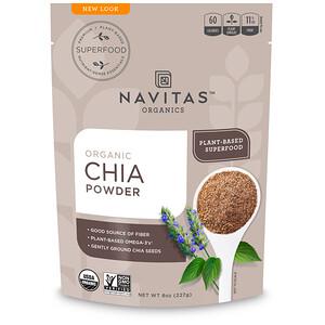 Навитас Органикс, Organic Chia Powder, 8 oz (227 g) отзывы покупателей
