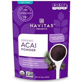 Navitas Organics, 유기농 아사이 파우더, 8 온스 (227 g)