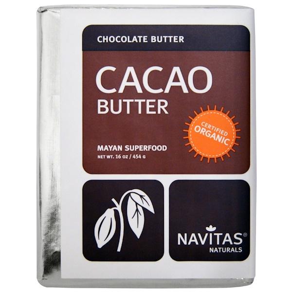 Navitas Organics, Organic, Cacao Butter, 16 oz (454 g) (Discontinued Item)