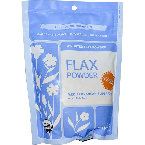 Navitas Organics, Organic, Flax Powder, Sprouted Flax Powder, 8 oz (227 g) (Discontinued Item)
