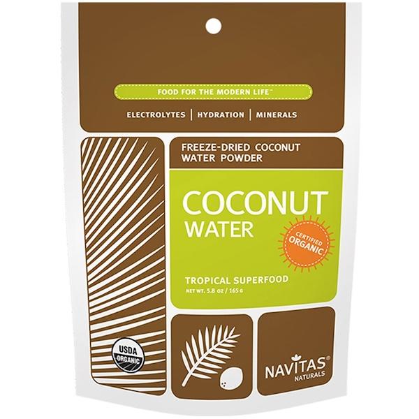 Navitas Organics, オーガニック, ココナッツ水, フリーズドライドパウダー, 5.8オンス(165 g) (Discontinued Item)
