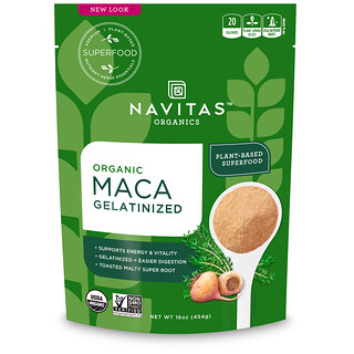 Navitas Organics, オーガニック、マカ、ゼラチン状、16オンス (454 g)