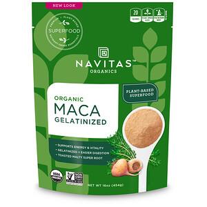Навитас Органикс, Organic Maca, Gelatinized, 16 oz (454 g) отзывы покупателей