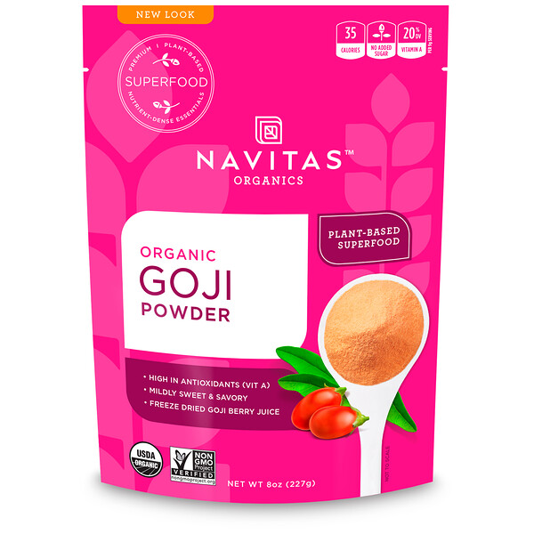 Organic, Goji Powder, 8 oz (227 g)