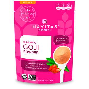 Навитас Органикс, Organic Goji Powder, 8 oz (227 g) отзывы покупателей