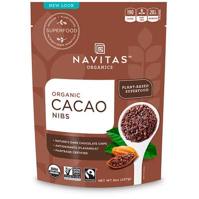 Купить Navitas Organics Дробленые органические какао-бобы, 227 г (8 унций)