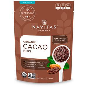 Навитас Органикс, Organic, Cacao Nibs, 16 oz (454 g) отзывы покупателей