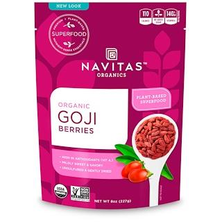 Navitas Organics, Organic Goji Berries, 8 oz (227g)