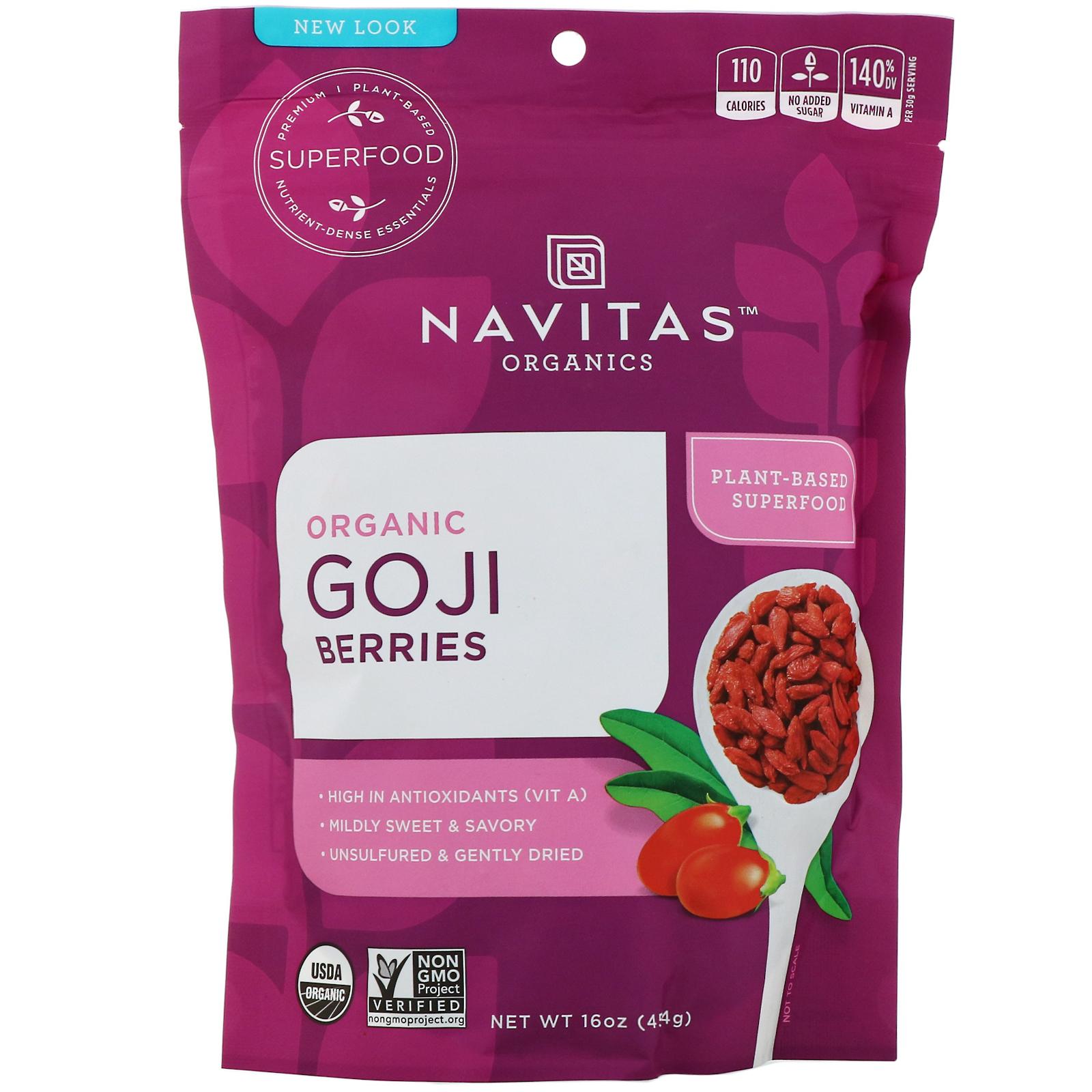 Navitas Organics Organic Goji Berries 16 Oz 454 G Iherb