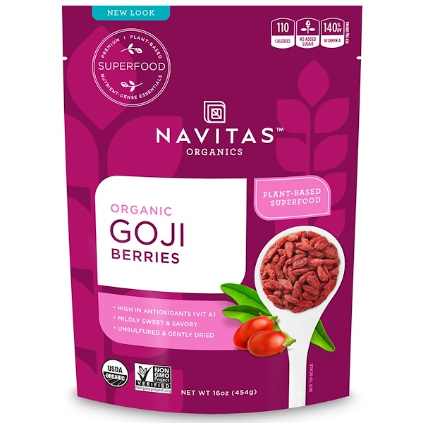 Navitas Organics, Bayas de Goji orgánica, 16 oz (45 g)