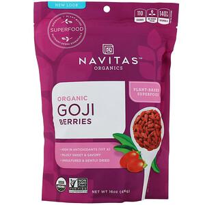 Навитас Органикс, Organic Goji Berries, 16 oz (454 g) отзывы