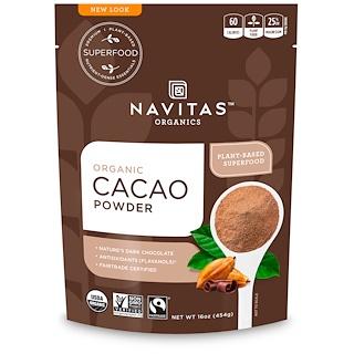 Navitas Organics, Poudre de cacao biologique, 454g (16 oz)