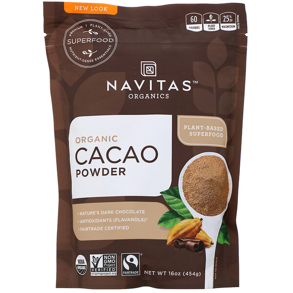 Organic Cacao Powder, 16 oz (454 g)