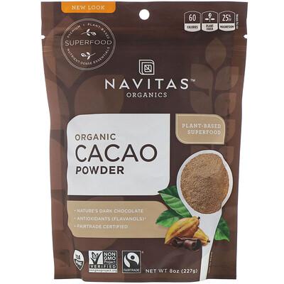 Купить Navitas Organics Органический какао-порошок, 227г (8унций)