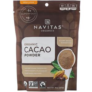 Навитас Органикс, Organic Cacao Powder, 8 oz (227 g) отзывы покупателей