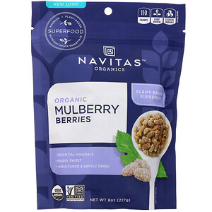 Навитас Органикс, Organic Mulberry Berries, 8 oz (227 g) отзывы