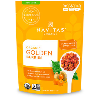 Navitas Organics, Organic, Golden Berries, 8 oz (227 g)