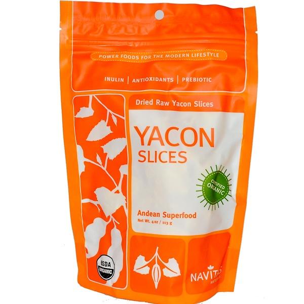 Navitas Organics, Organic, Dried Raw Yacon Slices, 4 oz (113 g) (Discontinued Item)