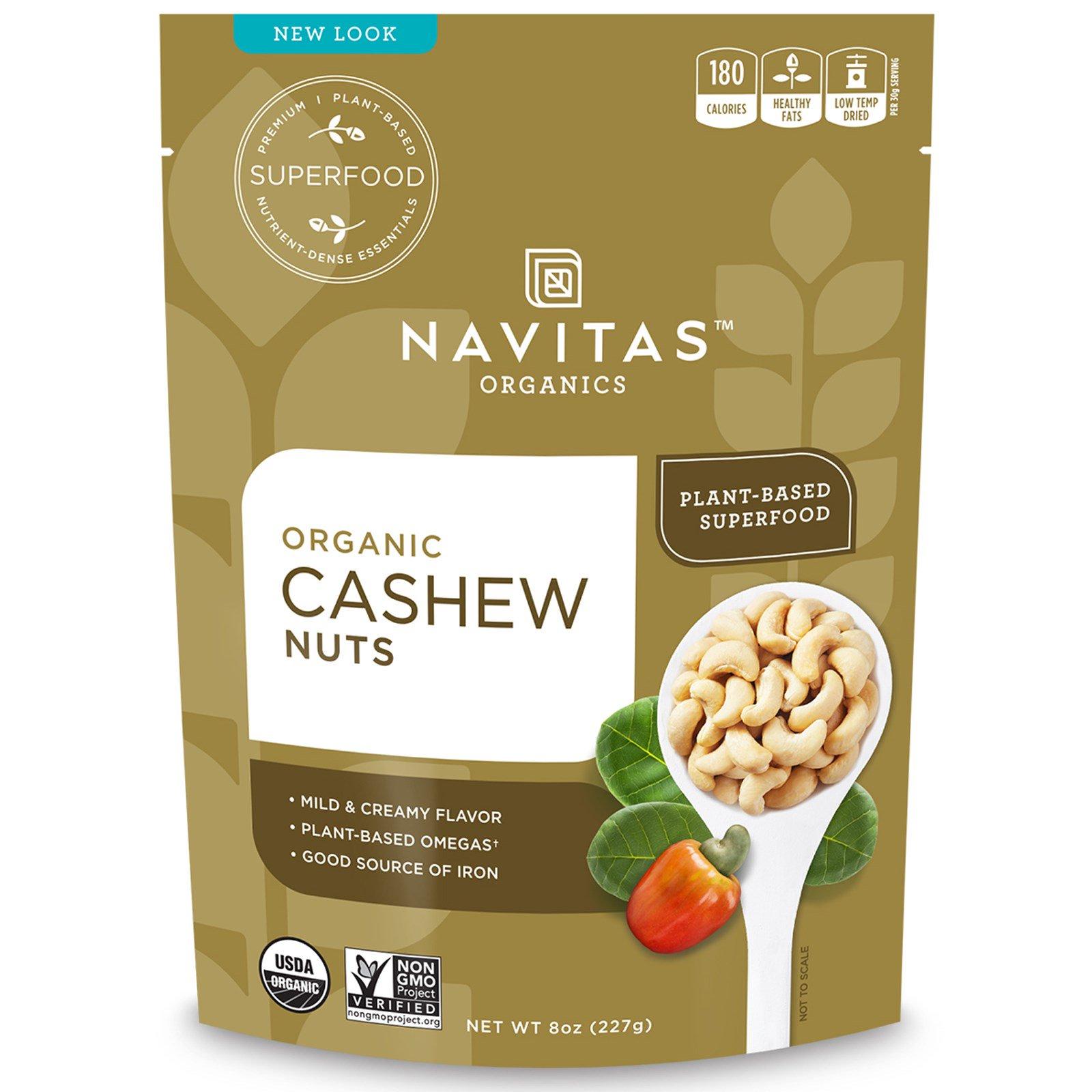 Navitas Organics, Organic, орехи кешью, 8 унц. (227 г)