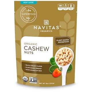 Navitas Organics, オーガニック、カシューナッツ、8オンス (227 g)