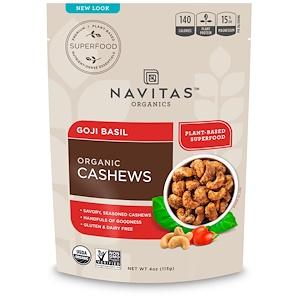 Навитас Органикс, Organic Cashews, Goji Basil, 4 oz (113 g) отзывы