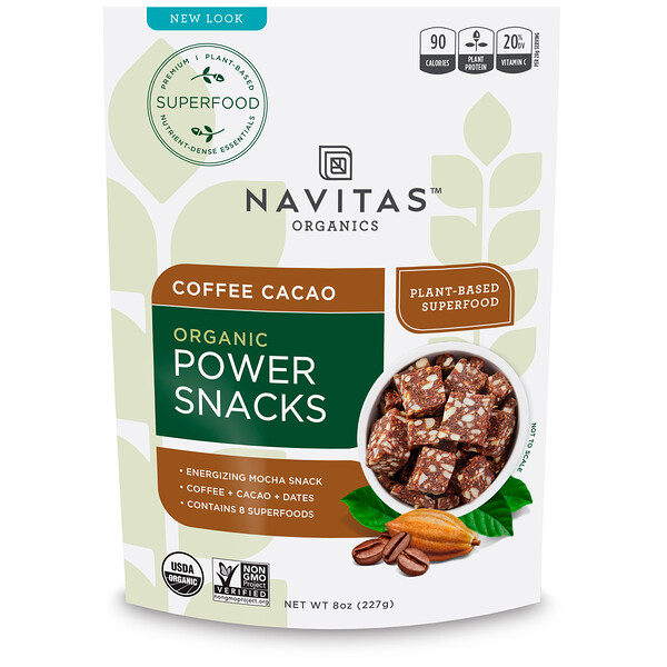 Navitas Organics, Organic Power Snacks, Coffee Cacao, 8 oz (227 g)