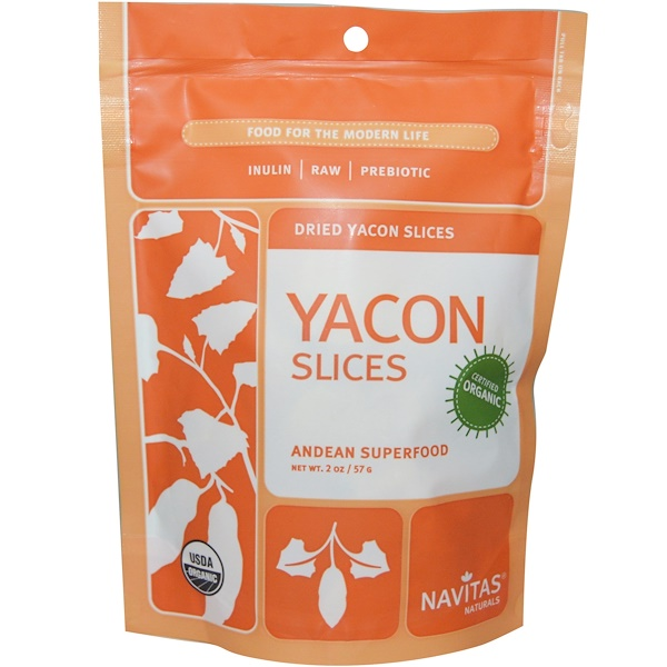 Navitas Organics, Organic Dried Yacon Slices, 2 oz (57 g) (Discontinued Item)