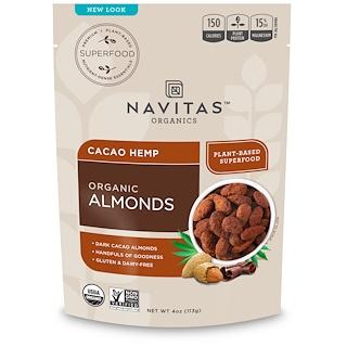 Navitas Organics, Organic Almonds, Cacao Hemp, 4 oz (113 g)