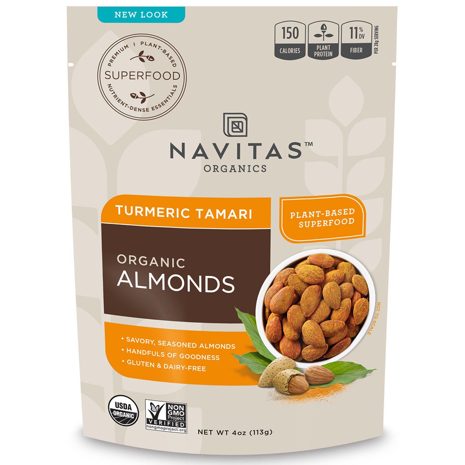 Navitas Organics, Organic, Superfood + Almonds, Turmeric Tamari, 4 oz (113 g)