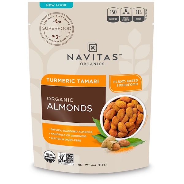 Navitas Organics, Organic, Superfood + Almonds, Turmeric Tamari, 4 oz (113 g) (Discontinued Item)