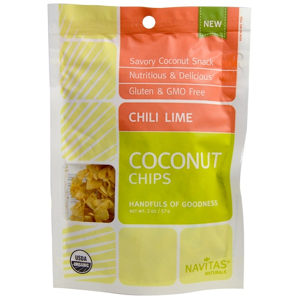 Navitas Organics, Coconut Chips, Chili Lime, 2 oz (57 g) (Discontinued Item)