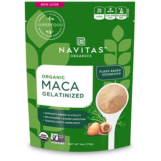 Navitas Organics, Organic Maca, Gelatinized, 4 oz (113 g)