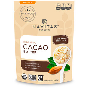 Навитас Органикс, Organic Cacao Butter, 8 oz (227 g) отзывы покупателей