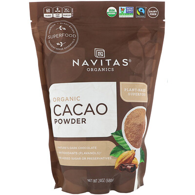 Navitas Organics Organic Cacao Powder, 24 oz (680 g)