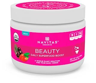 Navitas Organics, Красота, ежедневная добавка с чудо-пищей, 120 г