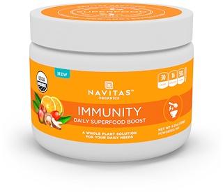 Navitas Organics, Иммунитет, ежедневный заряд чудо-пищи, 120 г