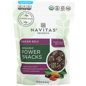 Navitas Organics, Organic Power Snack, Cacao Goji, 16 oz (454 g)'