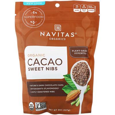 Купить Navitas Organics Organic Cacao Sweet Nibs, 8 oz (227 g)