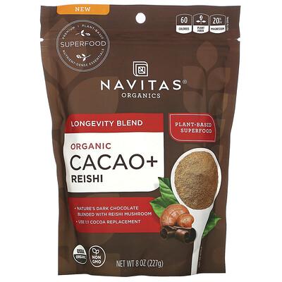 Купить Navitas Organics Longevity Blend, Organic Cacao + Reishi, 8 oz (227 g)