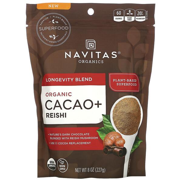 Longevity Blend, Organic Cacao + Reishi,  8 oz (227 g)