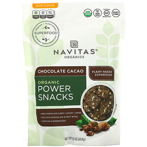 Navitas Organics, Organic Power Snacks, Chocolate Cacao, 16 oz (454 g)'