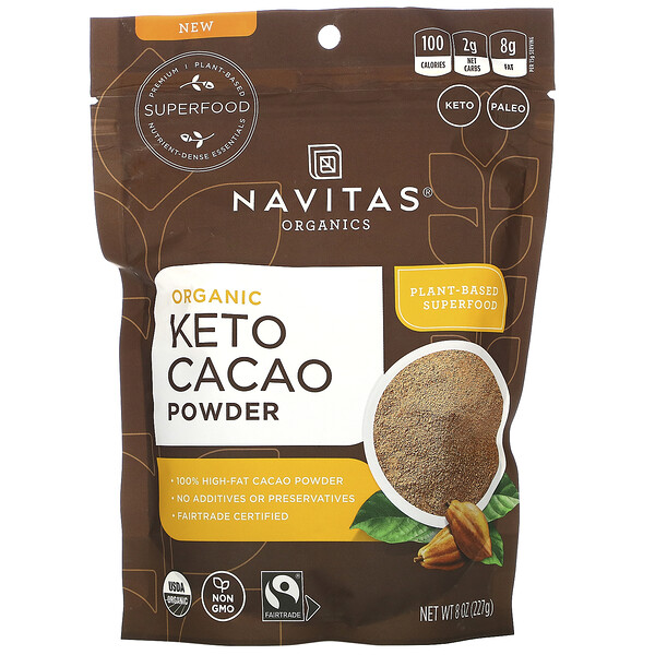 Organic Keto Cacao Powder, 8 oz (227 g)