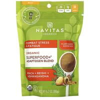 Navitas Organics, Organic Superfood+ Adaptogen Blend, Maca + Reishi + Ashwagandha, 6.3 oz (180 g)