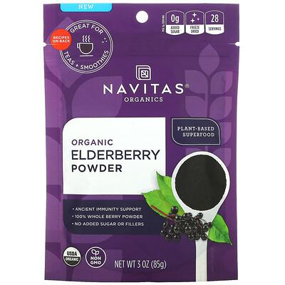 Купить Navitas Organics Organic Elderberry Powder, 3 oz (85 g)